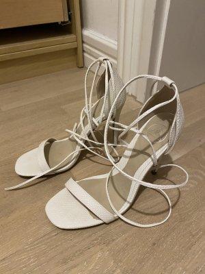 Missguided High heels weiß Schlangenoptik