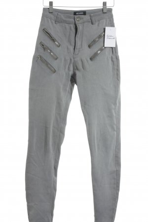 Missguided Hoge taille jeans lichtgrijs klassieke stijl