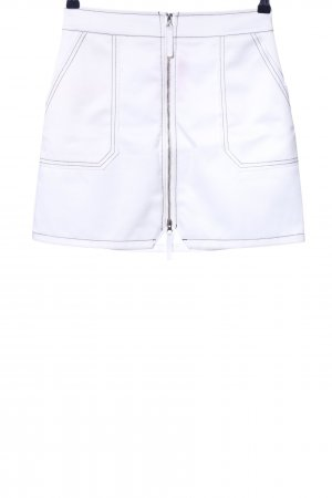 Missguided Jupe taille haute blanc style décontracté