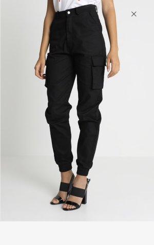 Missguided Hoge taille broek zwart