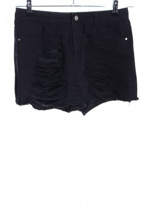Missguided Hot Pants black street-fashion look