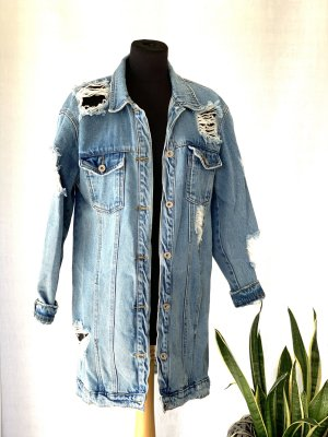 Missguided - Jeansjacke in extremer Used-Optik