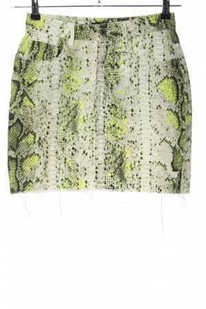Missguided Denim Skirt allover print casual look