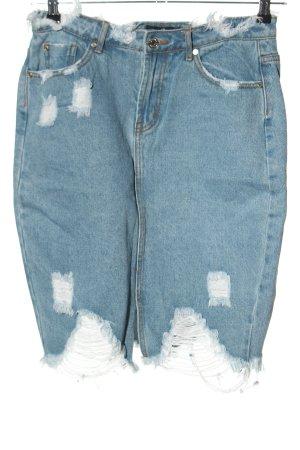 Missguided Gonna di jeans blu stile casual
