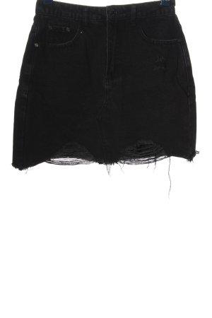 Missguided Denim Skirt black casual look