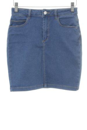 Missguided Denim Skirt steel blue casual look