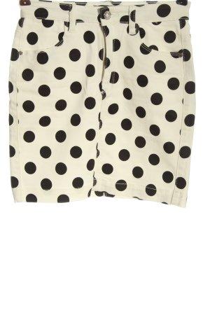 Missguided Denim Skirt natural white-black spot pattern casual look