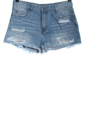 Missguided Pantaloncino di jeans blu stile casual