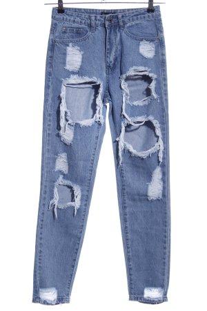 Missguided Karottenjeans blau Casual-Look
