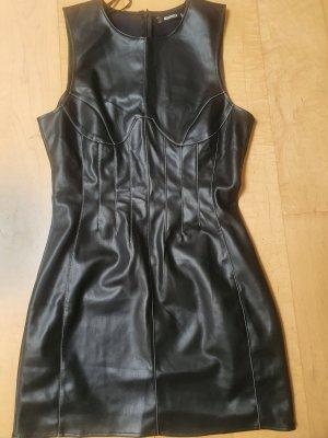 Missguided Skórzana sukienka czarny