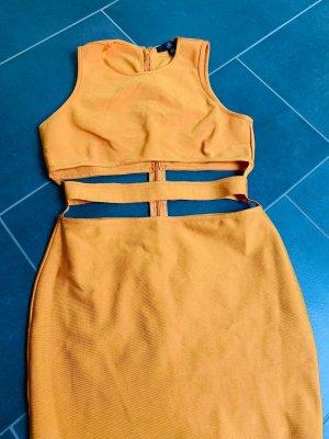 Missguided Sukienka z wycięciem jasny pomarańczowy