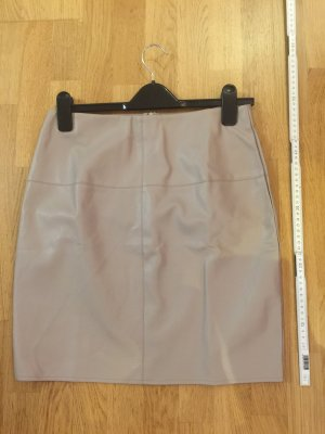 Missguided Leather Skirt nude