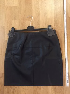 Missguided Leather Skirt black