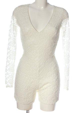 Missguided Kurzer Jumpsuit bianco sporco elegante