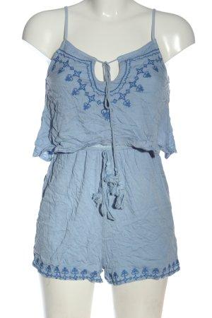 Missguided Kurzer Jumpsuit blau Elegant