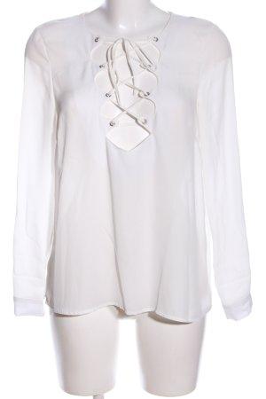 Missguided Langarm-Bluse weiß Elegant