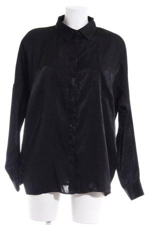 Missguided Langarm-Bluse schwarz