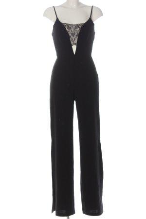 Missguided Langer Jumpsuit schwarz Elegant