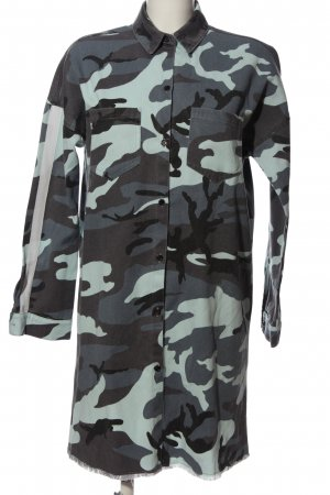 Missguided Long-Bluse Camouflagemuster Casual-Look