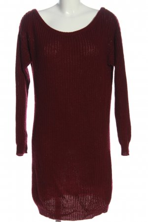 Missguided Sweater Dress red cable stitch casual look