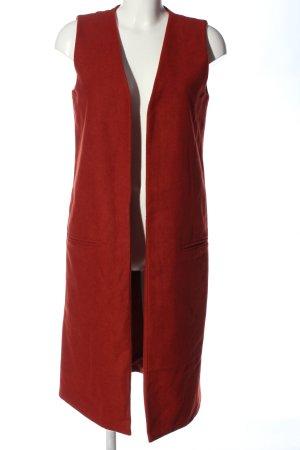 Missguided Lang gebreid vest rood gestippeld casual uitstraling