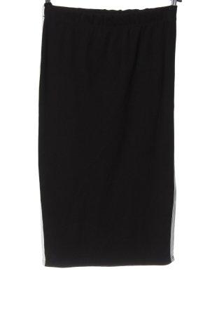 Missguided Spódnica midi czarny-biały Wzór w paski W stylu casual