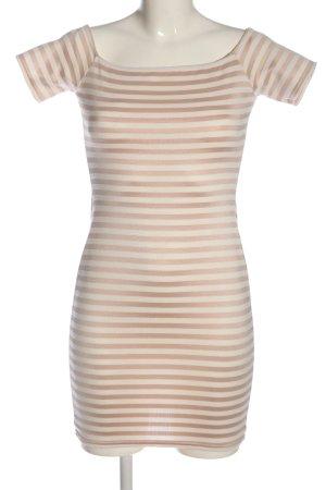 Missguided Minikleid weiß-nude Streifenmuster Casual-Look