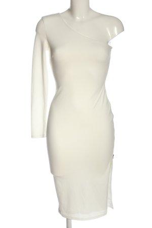 Missguided Vestido de un hombro blanco puro elegante