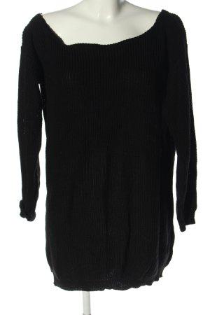 Missguided Vestido tipo jersey negro look casual