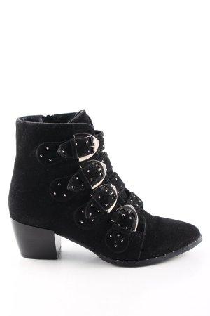 Missguided Reißverschluss-Stiefeletten schwarz Casual-Look