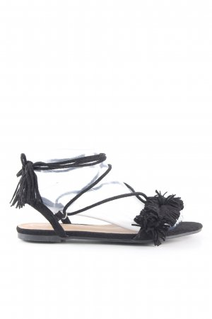 Missguided Riemchen-Sandalen schwarz Casual-Look