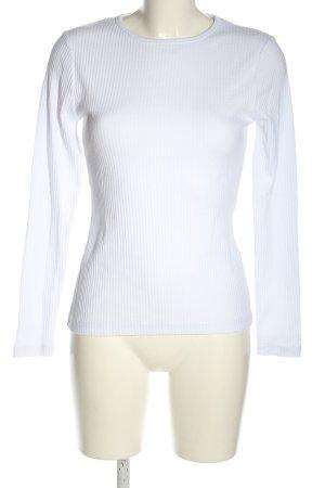 Missguided Chemise côtelée blanc style décontracté