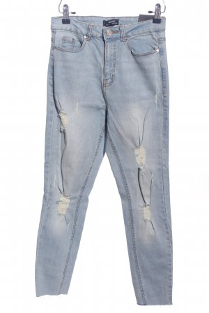 Missguided Drainpipe Trousers blue casual look