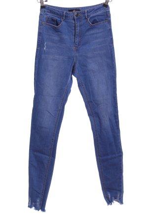 Missguided Röhrenjeans blau Casual-Look