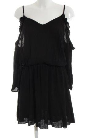 Missguided schulterfreies Kleid schwarz Elegant