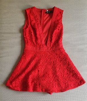 Missguided Kurzer Jumpsuit rosso