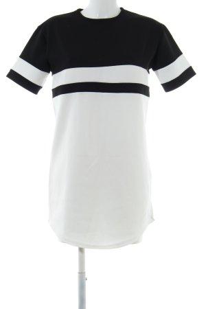 Missguided Shirtkleid weiß-schwarz Streifenmuster Casual-Look