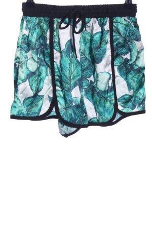 Missguided Shorts turchese-bianco motivo floreale stile atletico