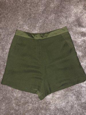 Missguided Pantaloncino a vita alta grigio-verde-cachi