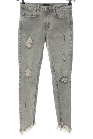 Missguided Jeans skinny grigio chiaro puntinato stile casual