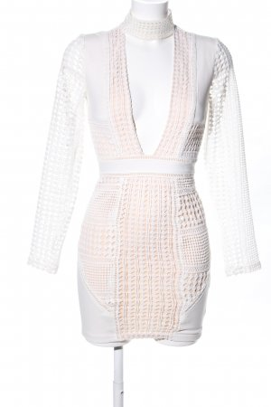 Missguided Lace Dress natural white-white party style