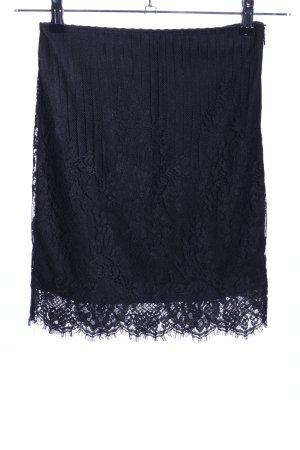 Missguided Falda de encaje negro look casual