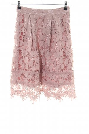 Missguided Lace Skirt pink flower pattern elegant