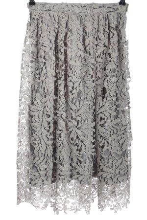 Missguided Falda de encaje gris claro elegante
