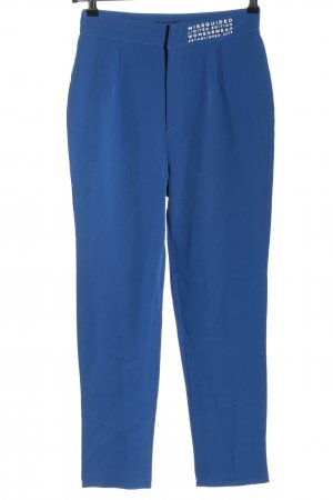 Missguided Jersey Pants blue-white printed lettering casual look