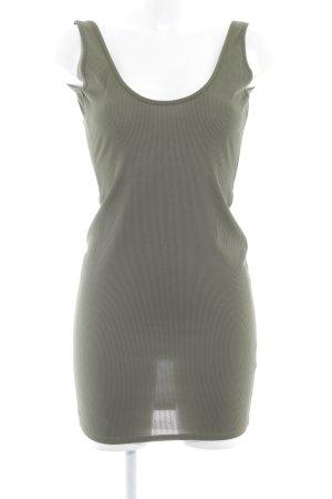 Missguided Stretch jurk groen-grijs casual uitstraling