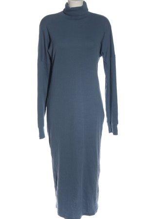 Missguided Strickkleid blau Casual-Look