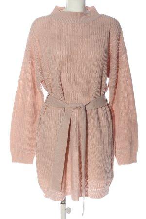 Missguided Robe en maille tricotées rose torsades style décontracté