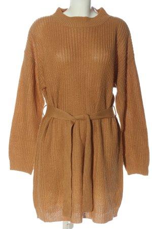Missguided Robe en maille tricotées orange clair style décontracté