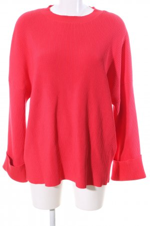 Missguided Strickpullover rot Casual-Look